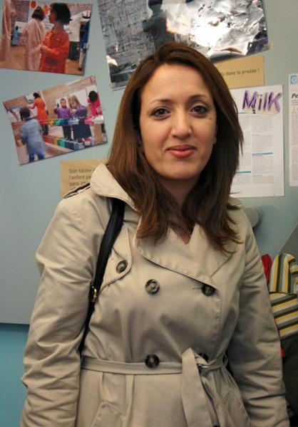 La maman de Sami et de Mehdi, élèves à l'école Montessori.