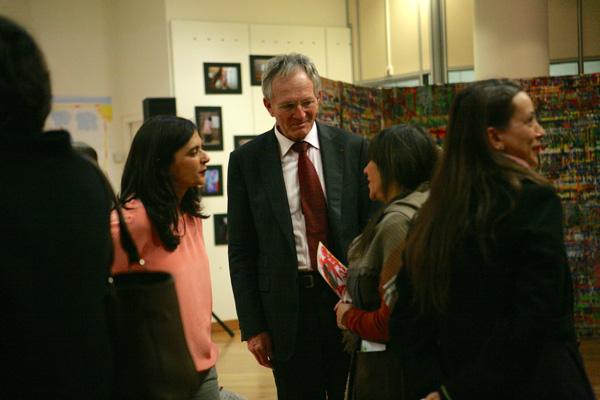 Avec le maire de Charenton, son épouse et l'élue à la jeunesse.