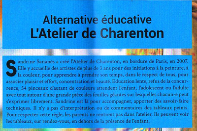 L'Atelier de Charenton / Revue Silence, janvier 2014