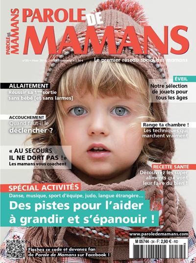 Le magazine Parole de mamans parle de mon travail avec les enfants.
