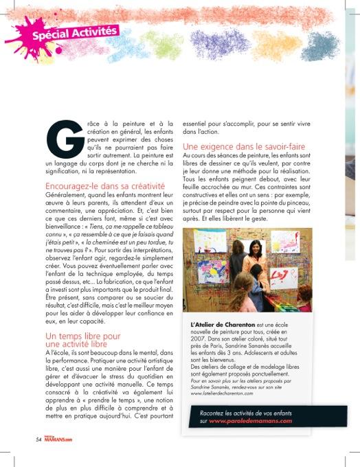 Page 2/ Parole de mamans