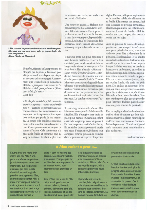 Mon article pour la revue Non-violence actualité. Cliquez sur l''image