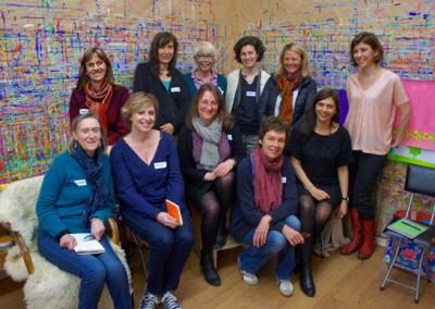 Je réunis dix femmes à la journée Réseau, autour du projet du Geste peindre.