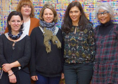 Avec Karen, Géraldine, Vanessa et Paloma mes stagiaires.