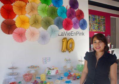 chez notre voisine Sousada, du Pink concept
