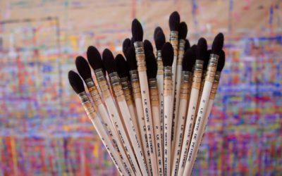 Les pinceaux Le Geste de peindre