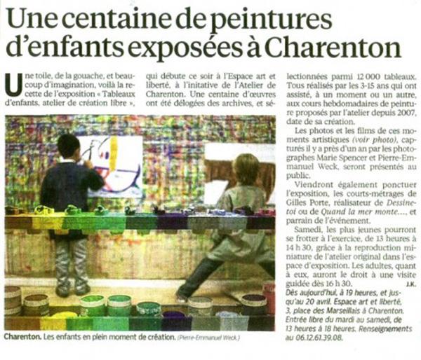 Presse : l'Atelier de Charenton dans le journal Le Parisien