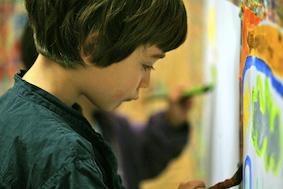 Peinture après la Maternelle