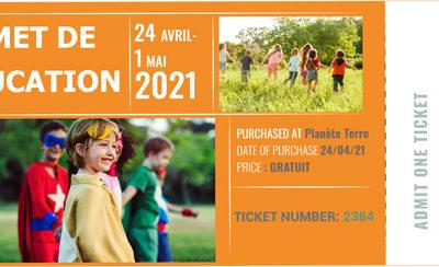Invitation au Sommet de l'éducation d'avril 2021